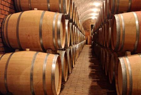 Wine barrels Reklamní fotografie - 34224621