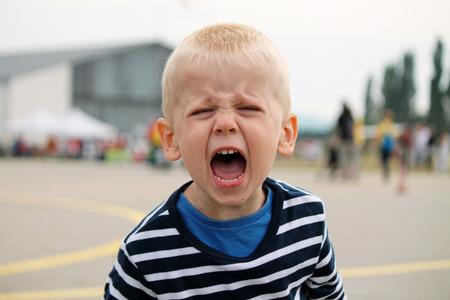 Chłopiec krzyczy Zdjęcie Seryjne