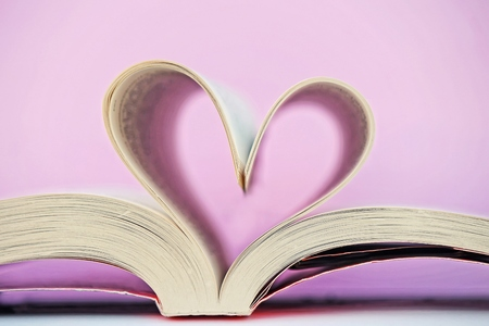 prose: Heart and book Stock Photo
