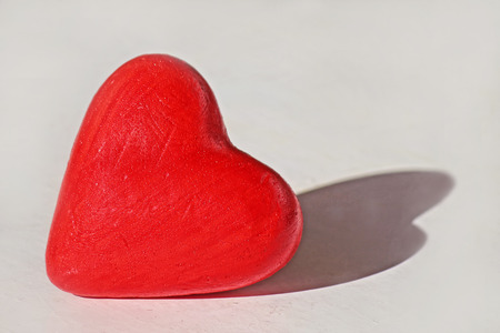 february 14th: red heart on white background Stock Photo