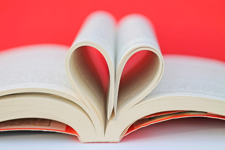february 14th: Love and Read Stock Photo