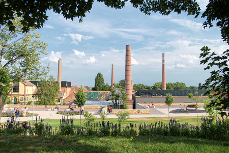 pecs: Cultural quarter of Pecs in Hungary. Stock Photo