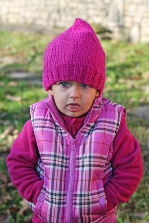 blase: Little girl looking sulkily