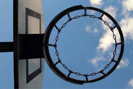 intramural: basketball hoop and sky