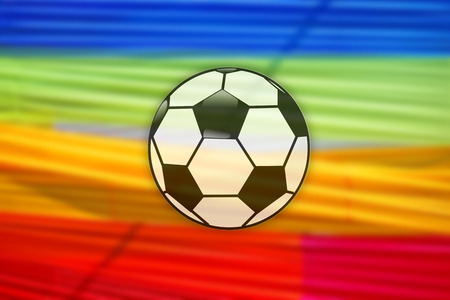 Ball with multicolored background Reklamní fotografie