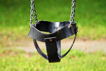 Empty Swing on the playground