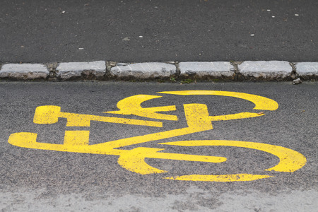Bicycle road sign Reklamní fotografie
