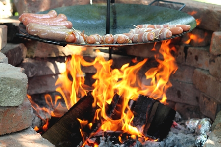 chitterlings: Grilled at the campfire