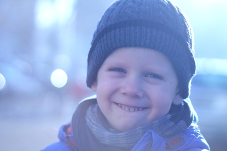 Little boy is smiling