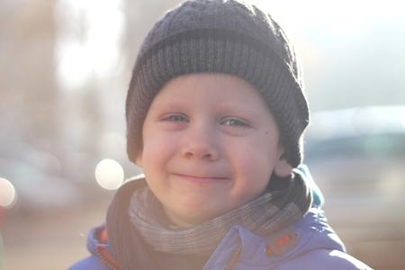 Happy boy is in sunshine Reklamní fotografie