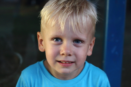 Boy with blonde hair