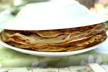 Fried pancakes on plate