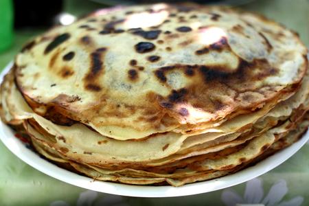 Fried pancakes Reklamní fotografie - 65335636