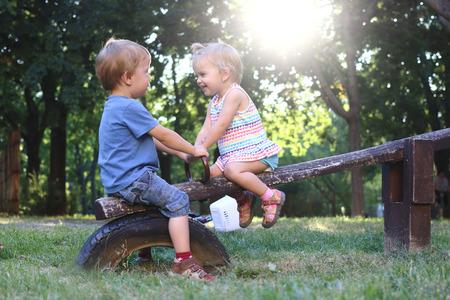 a boy and a girl Reklamní fotografie - 70927528