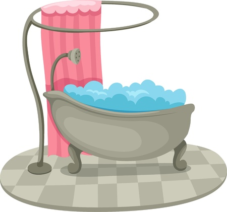 bath and shower  Illustration