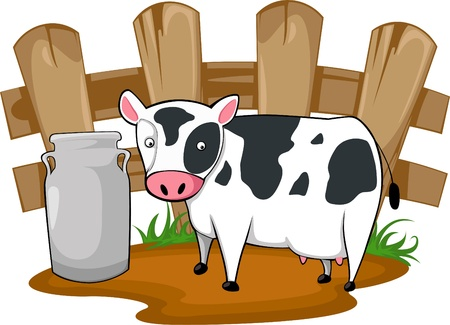 milk cow Stock Vector - 9991857
