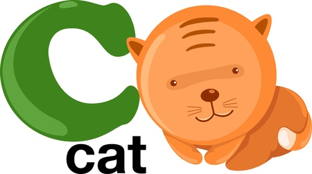 alphabet animaux: alphabet animale lettre-c