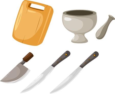 kitchen tools: illustratie Keuken gereedschappen