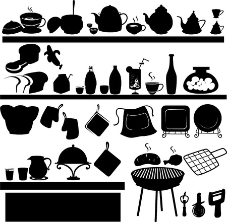 bake: illustration Kitchen tools