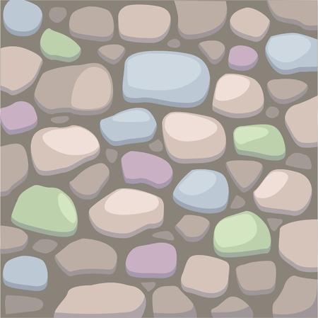 rubble: ilustraci�n de la pared de piedra Vectores