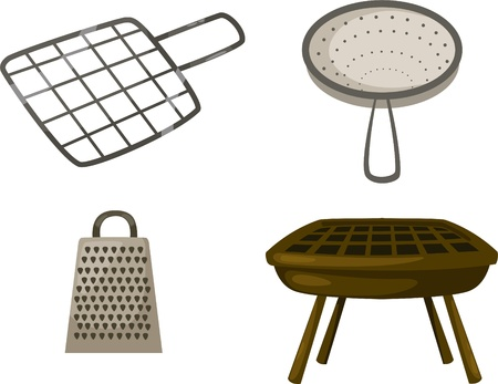 broiling: illustration cartoon Grill grate