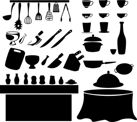 illustration Kitchen tools  Vector