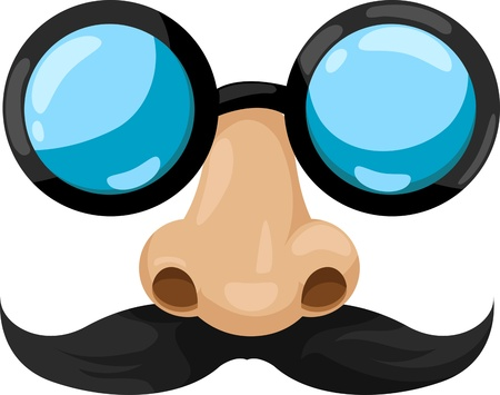 Illustration Clown glasses  Vector