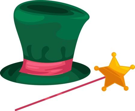 conjuring: Illustration Magic hat