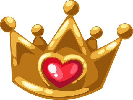Gold crown of isolated illustration  Vector