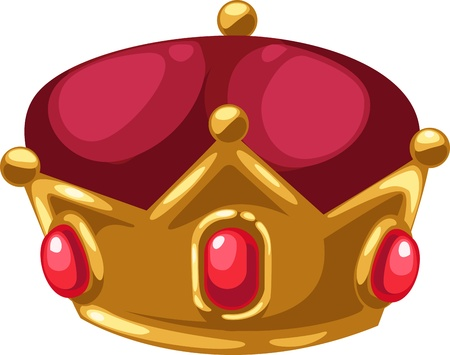 jeweled: Gold crown of isolated illustration
