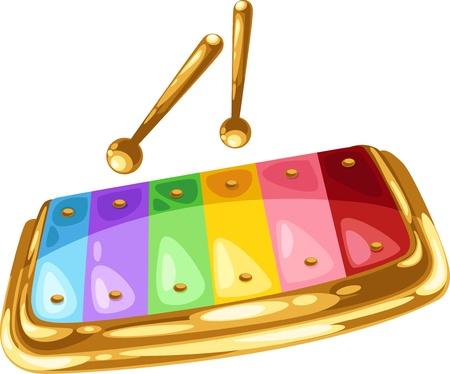 xilofono: xilófono de ilustración aislada Vectores