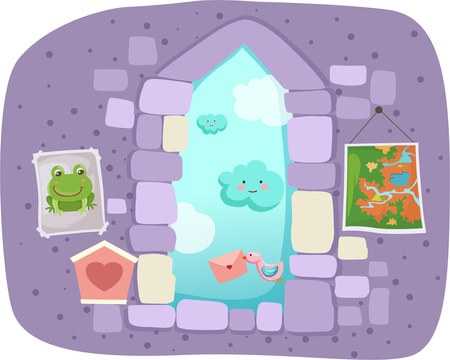 fantasy window Vector