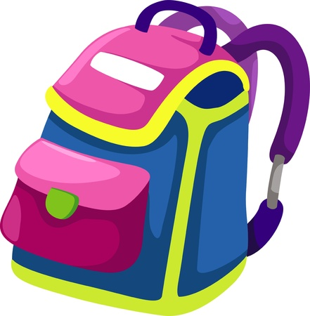 school backpack: illustration bag