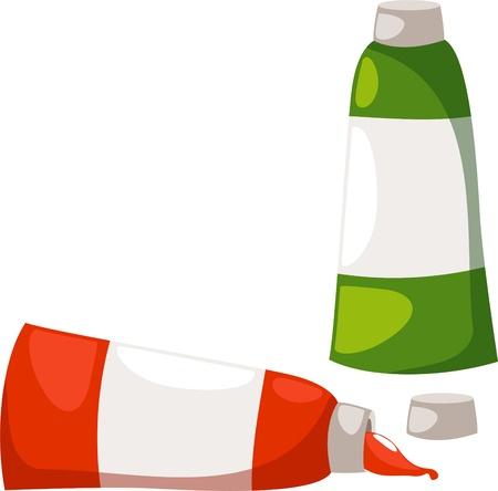 illustration Color tubes Vector