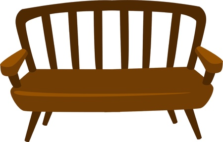 illustration wood Chair  Vector