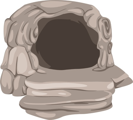 illustration dark cave Vector