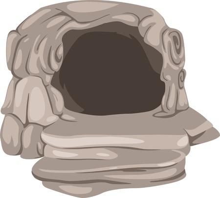 jaskinia: ilustracja ciemna jaskinia Ilustracja