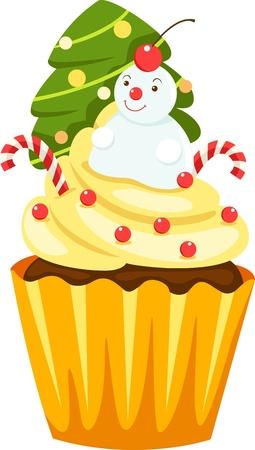 christmas cake: Chocolate cupcake