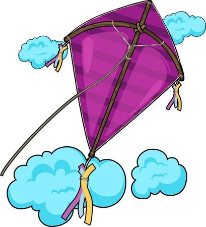 凧: 図凧  イラスト・ベクター素材
