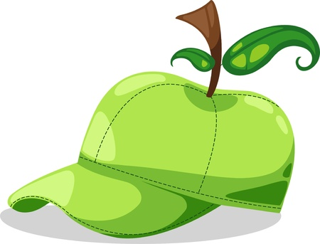 hat apple fantasy party illustration  Vector