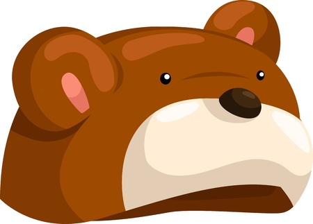 hat bear so cute isolated  illustrator  Vector