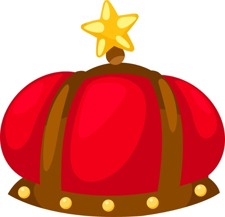 golden crown: The King isolated  illustration  Illustration