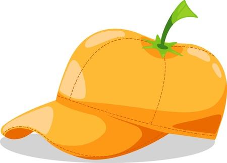hat orange fantasy party illustration Vector