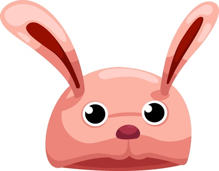 rabbit hat  illustration Vector