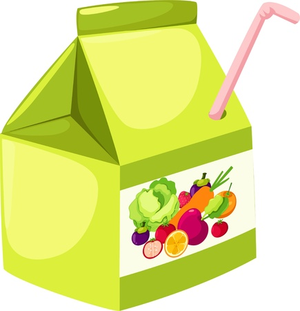 Fruit and vegetables juice Vector