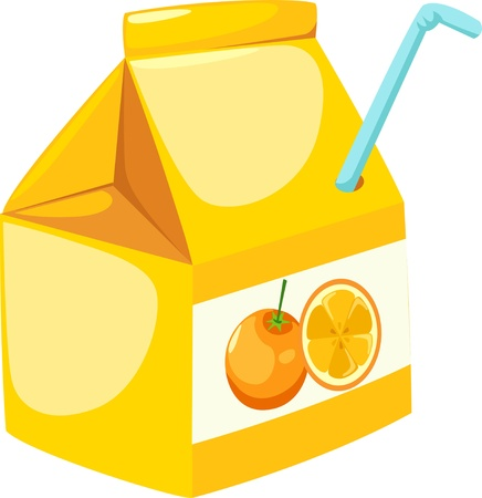 illustration orange juice Vector