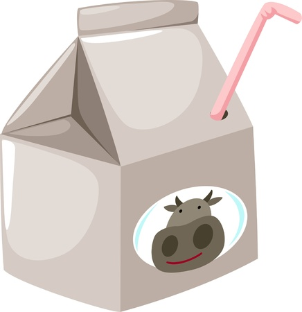 illustration milk Vector