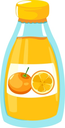 fresh juice: illustration orange juice