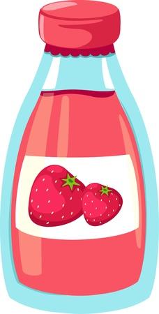 juice bottle: Strawberry juice