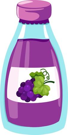 juice bottle: Grapes juice Illustration